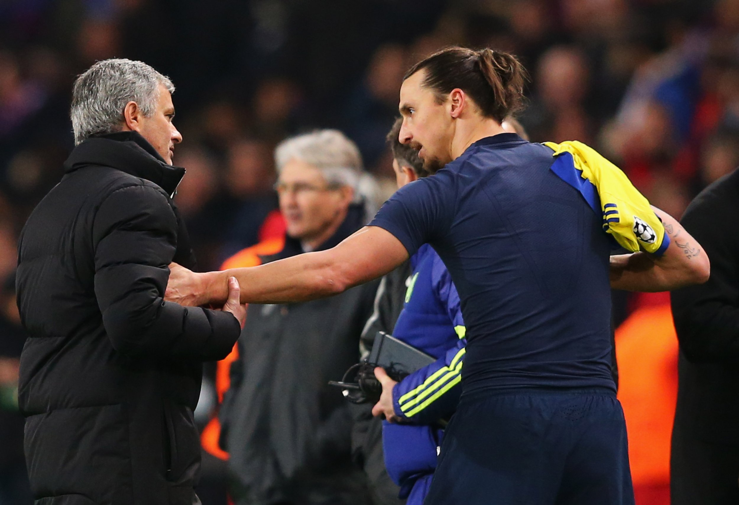 Jose Mourinho, left, with Zlatan Ibrahimovic.