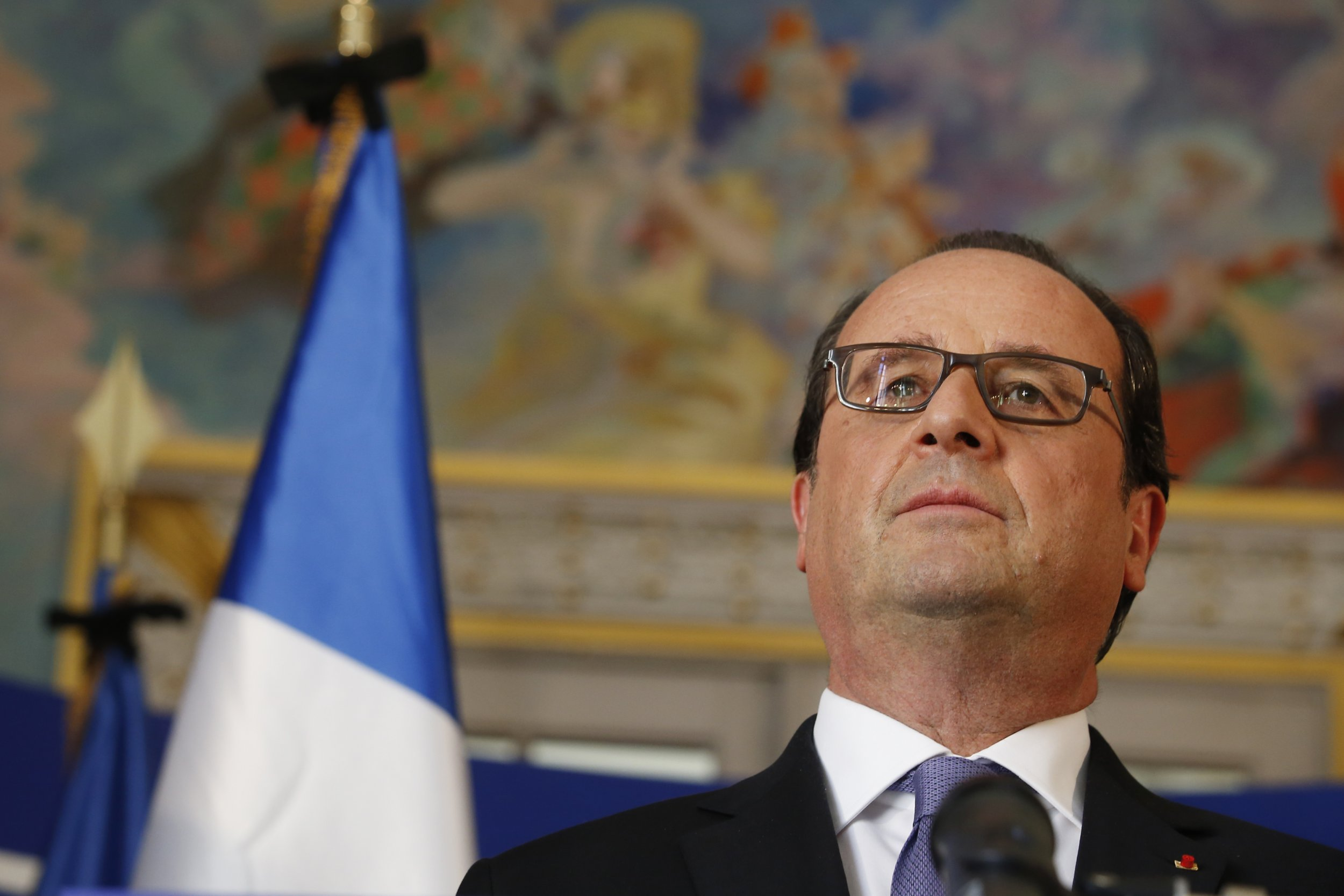 French President Francois Hollande after Nice attack