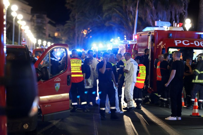 Promenade des Anglais after the Nice attack
