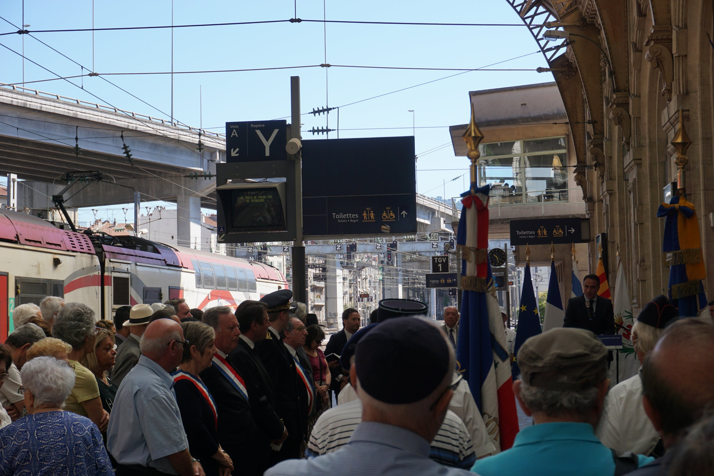 Jewish Memorial at Nice's Main Train Station