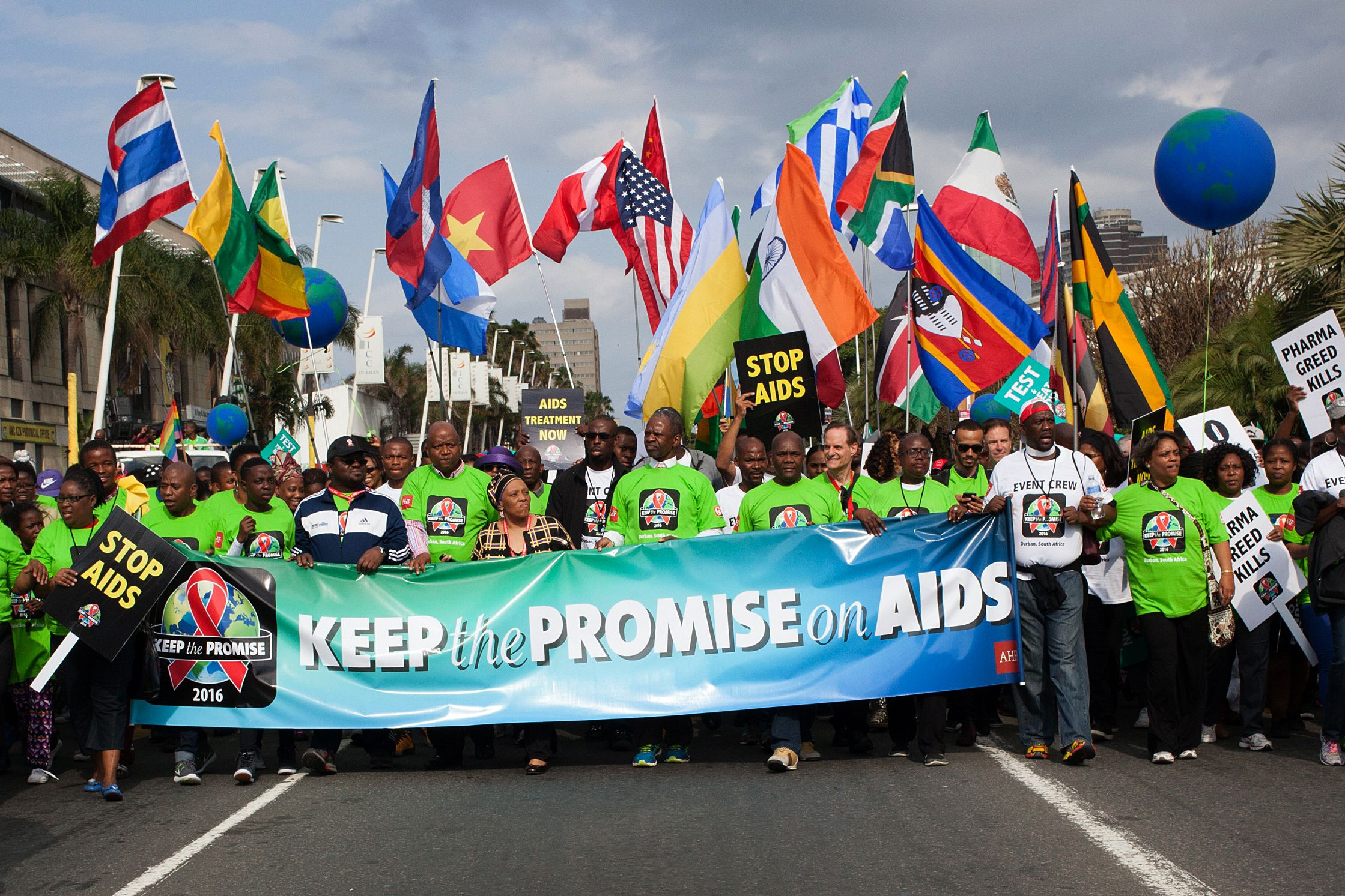 South Africa AIDS march