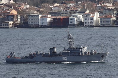 Russian navy warship