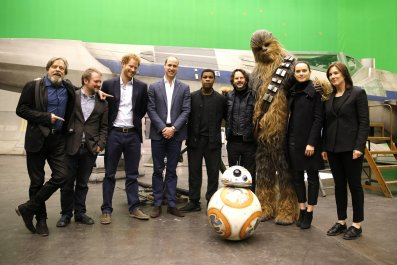 Prince William And Prince Harry Visit The 'Star Wars' Film Set