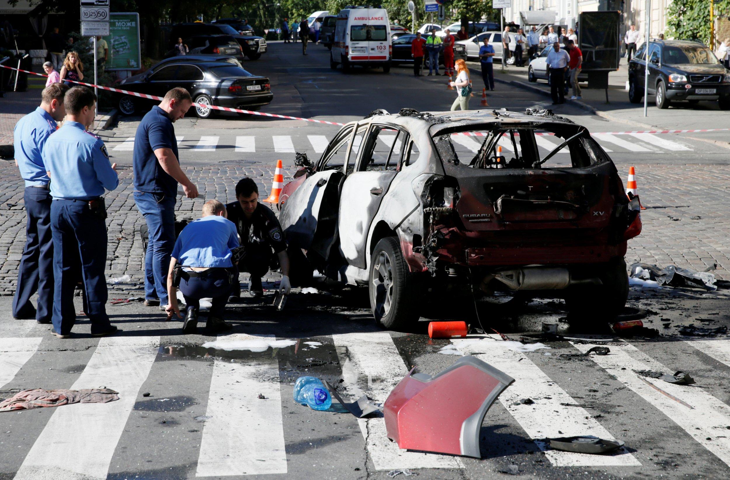 Pavel Sheremet car wreckage