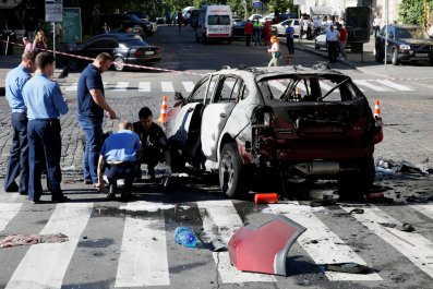 Pavel Sheremet car wreckage