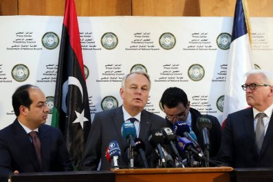 French foreign minister in Libya