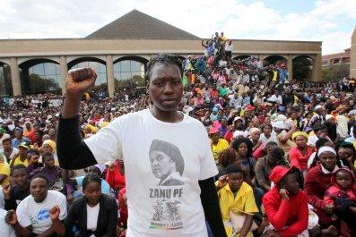 Zanu PF supporter
