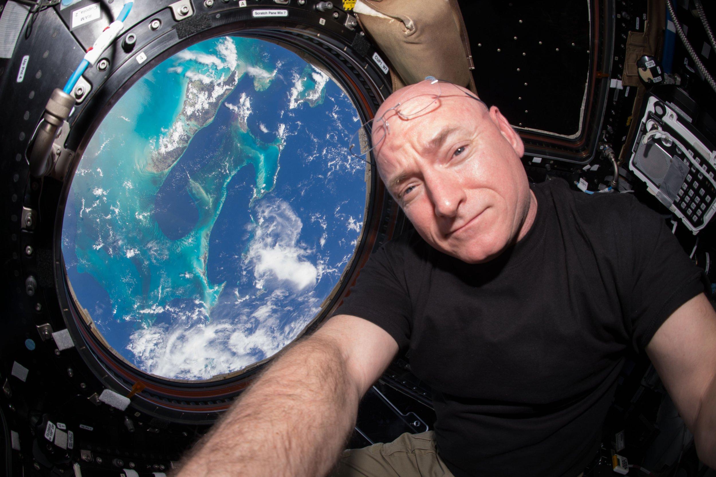 NASA astronaut Scott Kelly in space