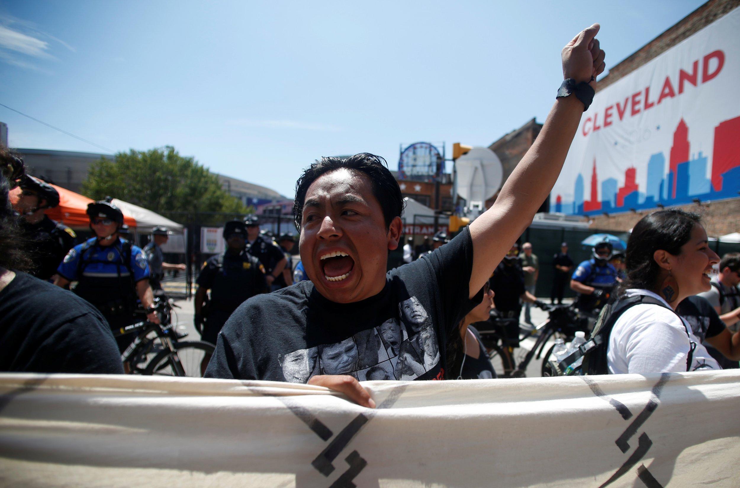 Trump Mexico protester