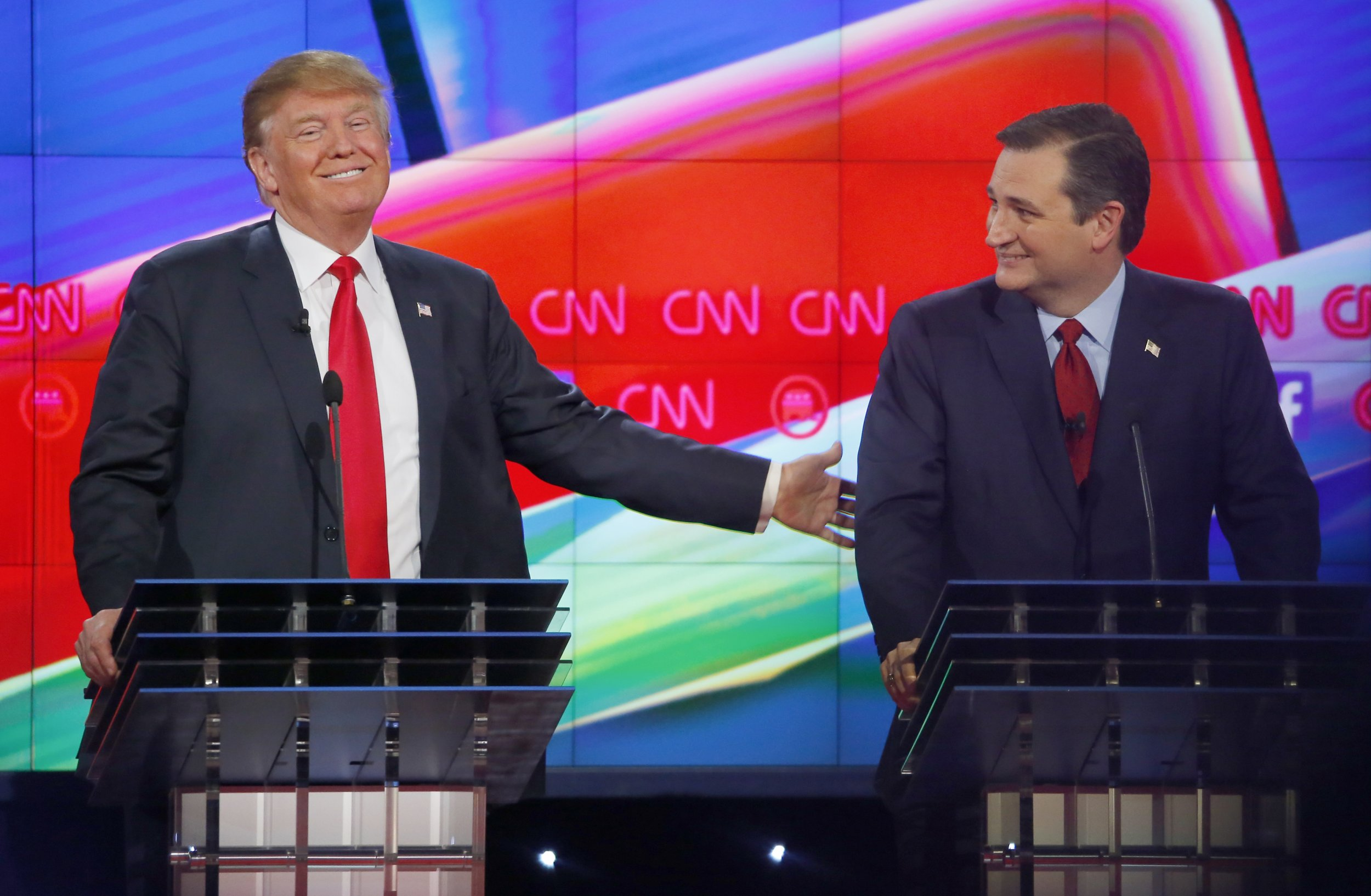 Donald Trump and Ted Cruz