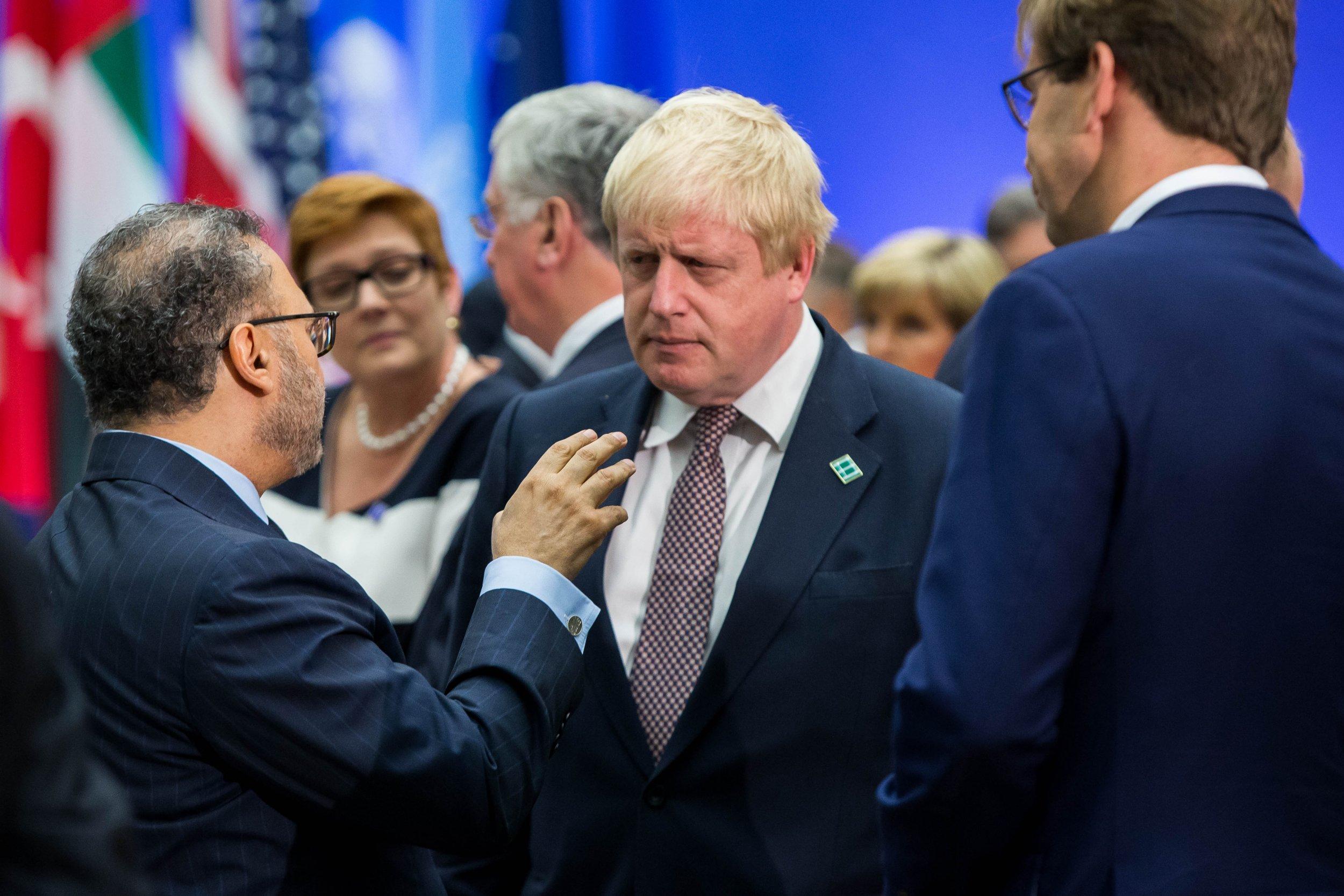 Boris Johnson at anti-ISIS summit