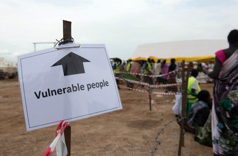 South Sudan displaced persons camp