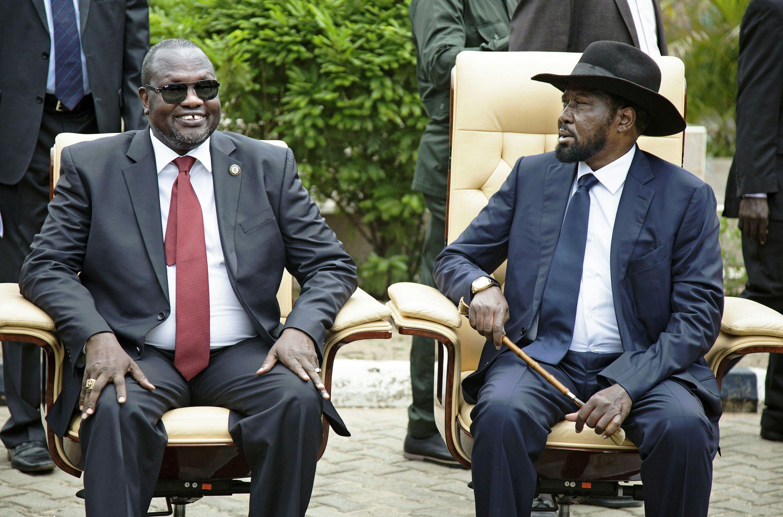 Salva Kiir and Riek Machar