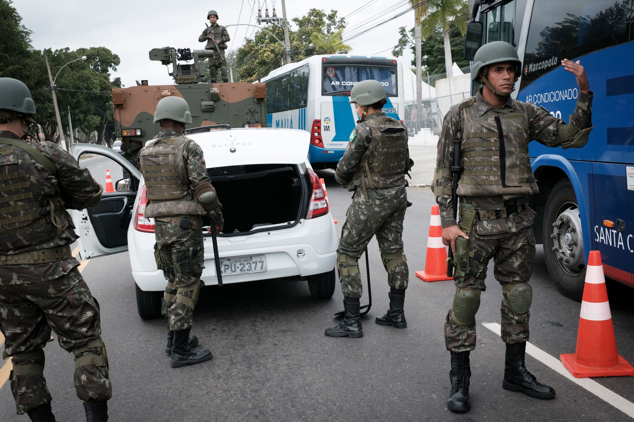 Security forces ahead of Rio 2016 Olympics in Brazil