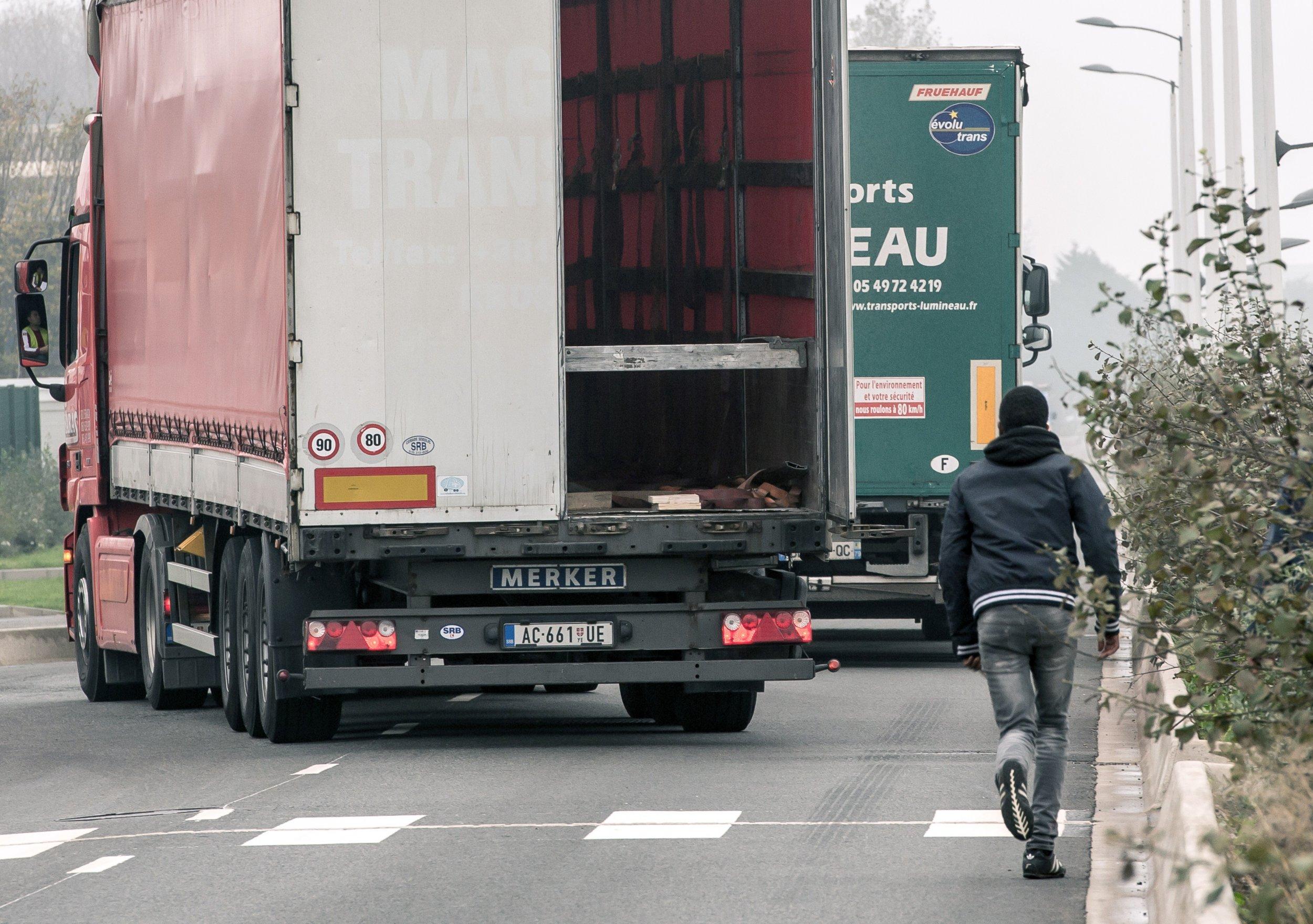 Migrant in truck