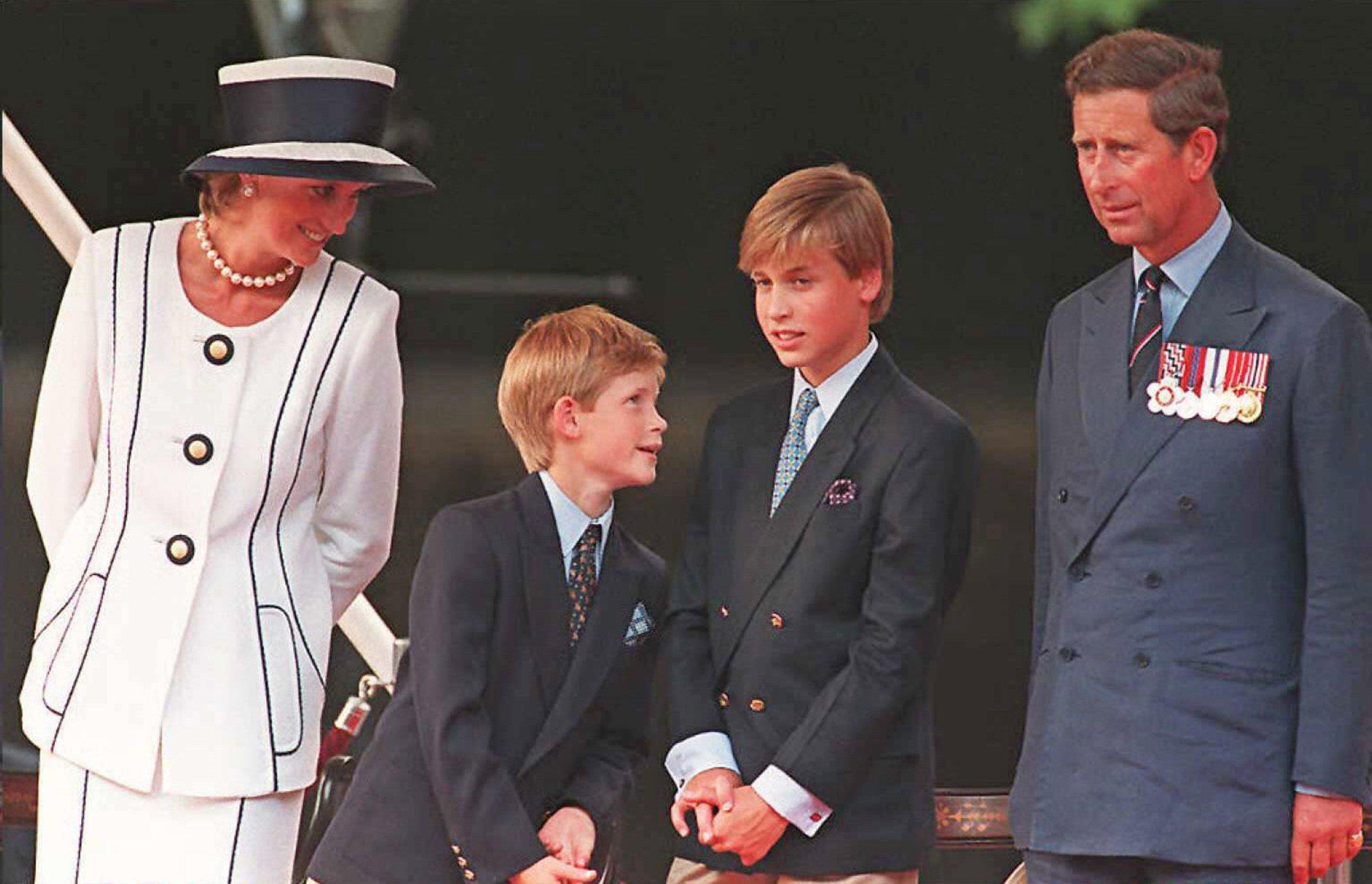 Diana, Princess of Wales, Prince Harry, Prince William and Prince Charles