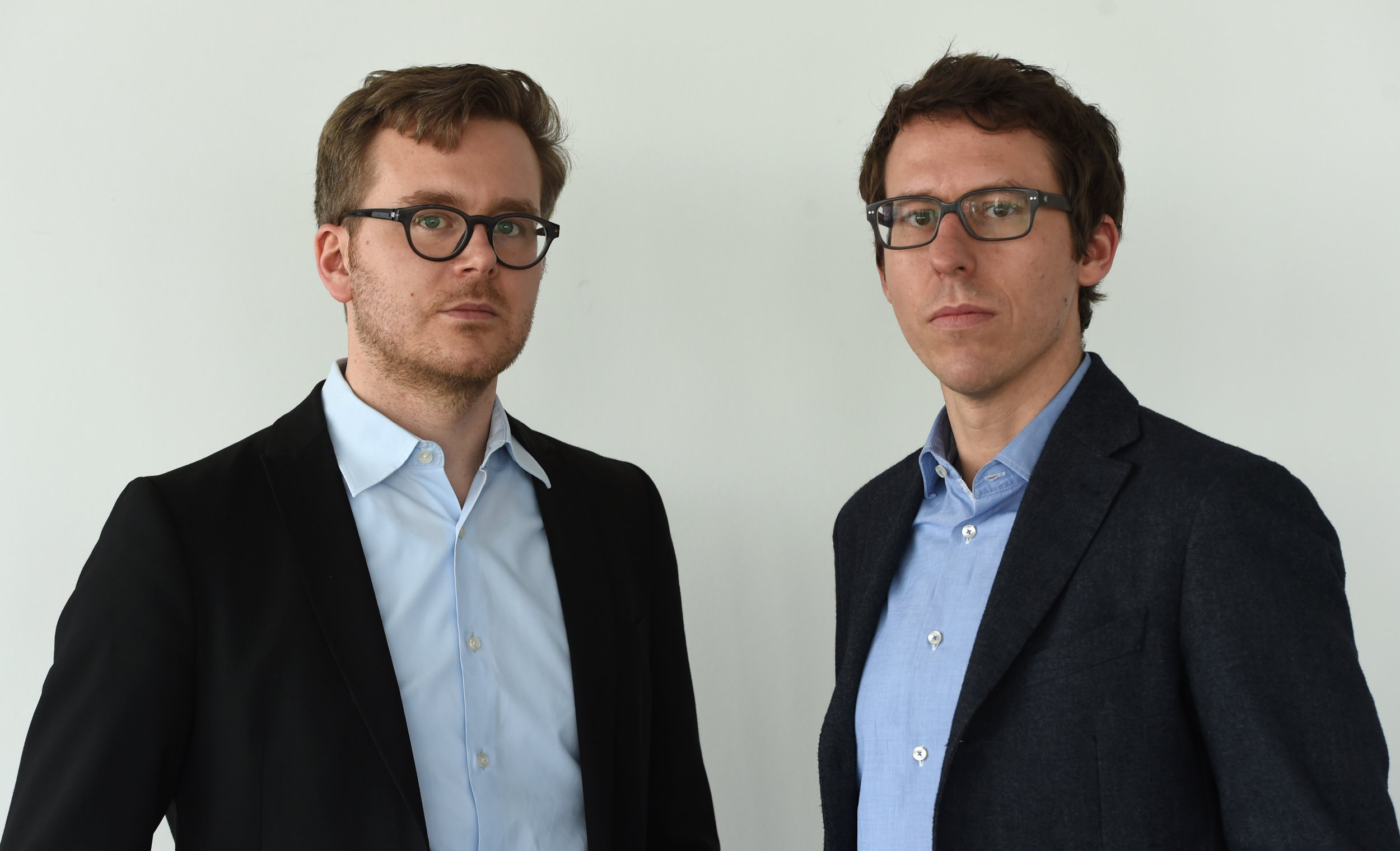 Frederik Obermaier (L) and Bastian Obermayer