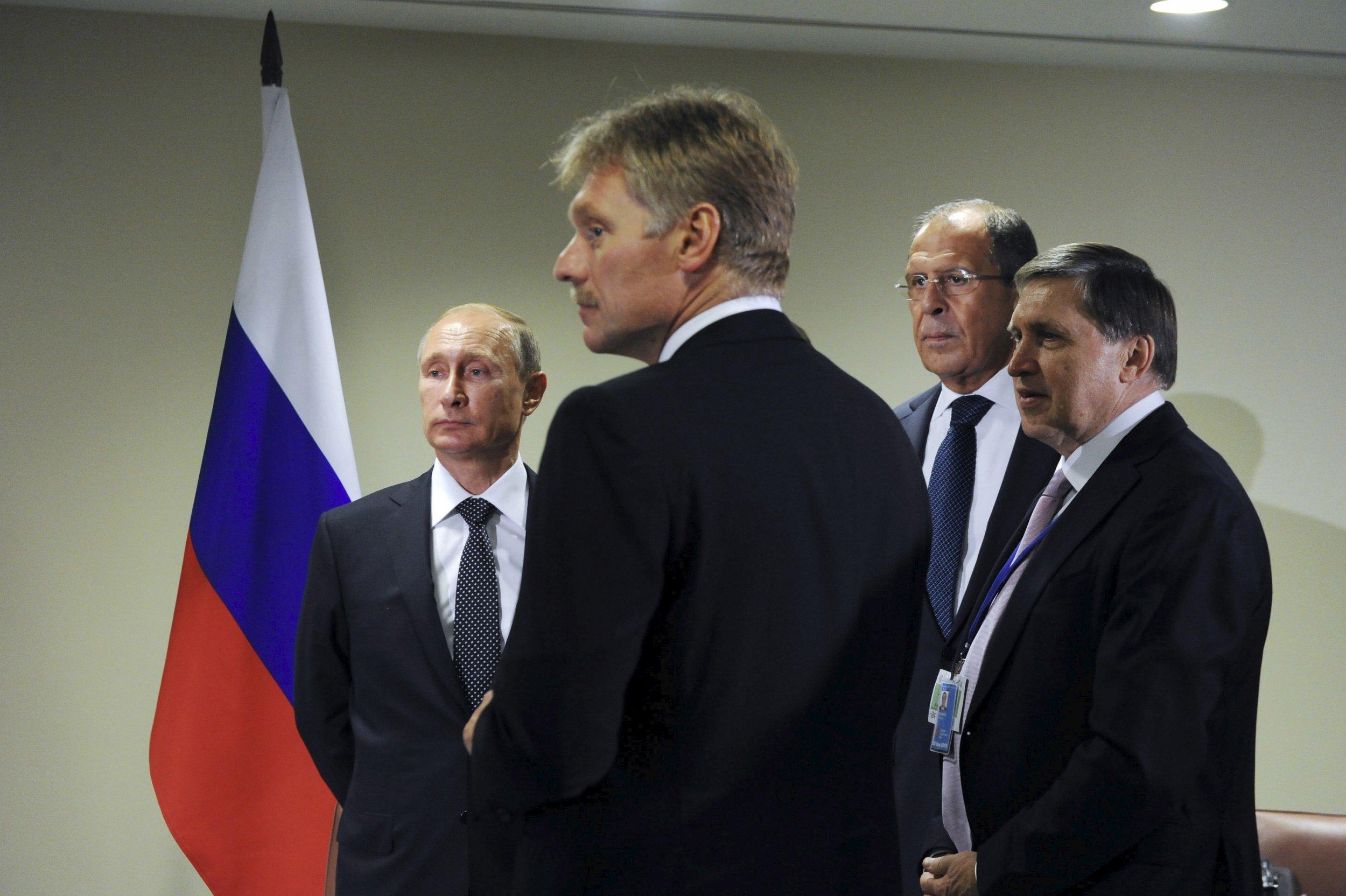 Putin, Lavrov and Peskov