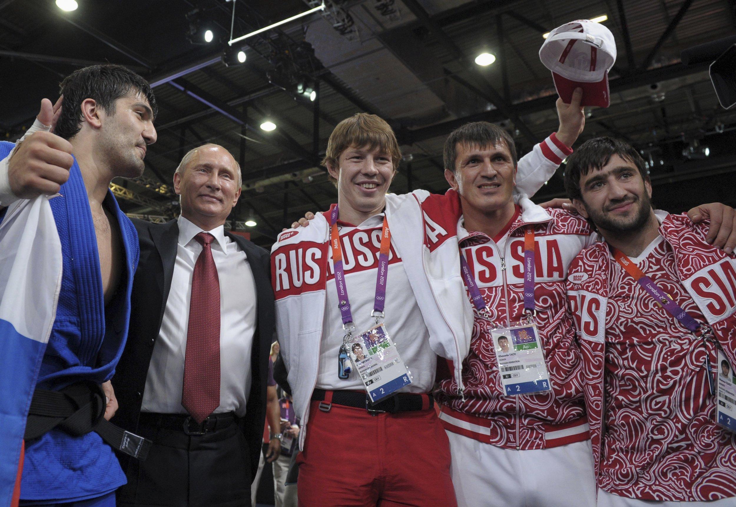 Vladimir Putin at the Olympics