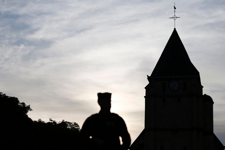 France attack priest mosque church