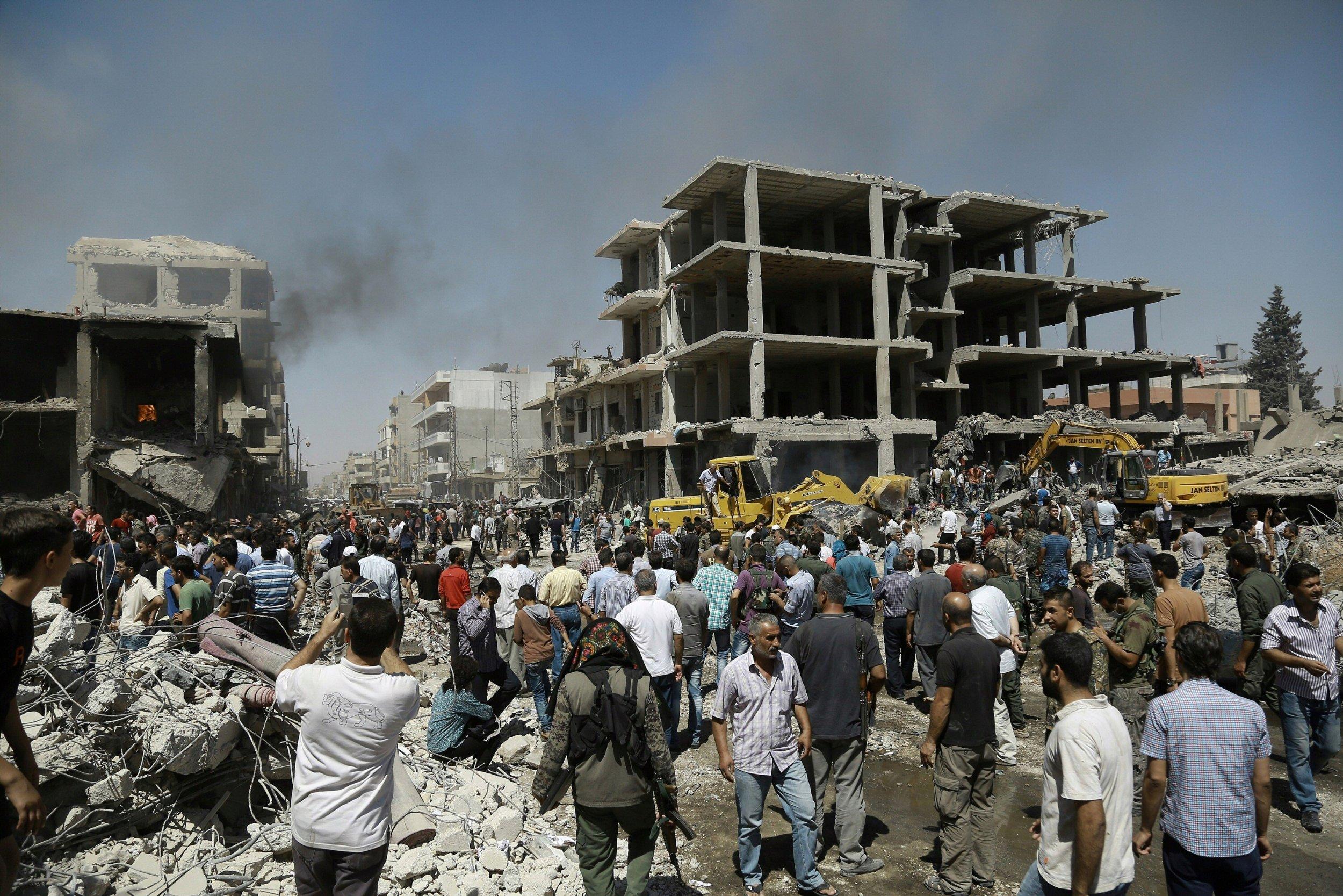 ISIS Qamishli bomb attack in northern Syria