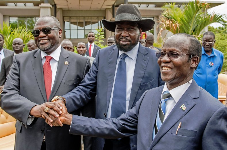 Riek Machar, Salva Kiir and James Wani Igga