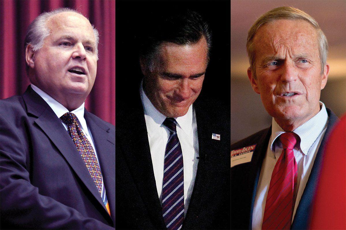 Rush Limbaugh, Mitt Romney, Todd Akin