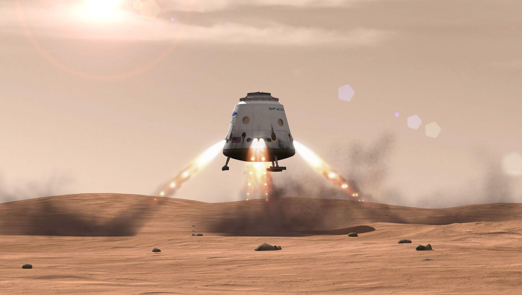 spacex red dragon mars NASA