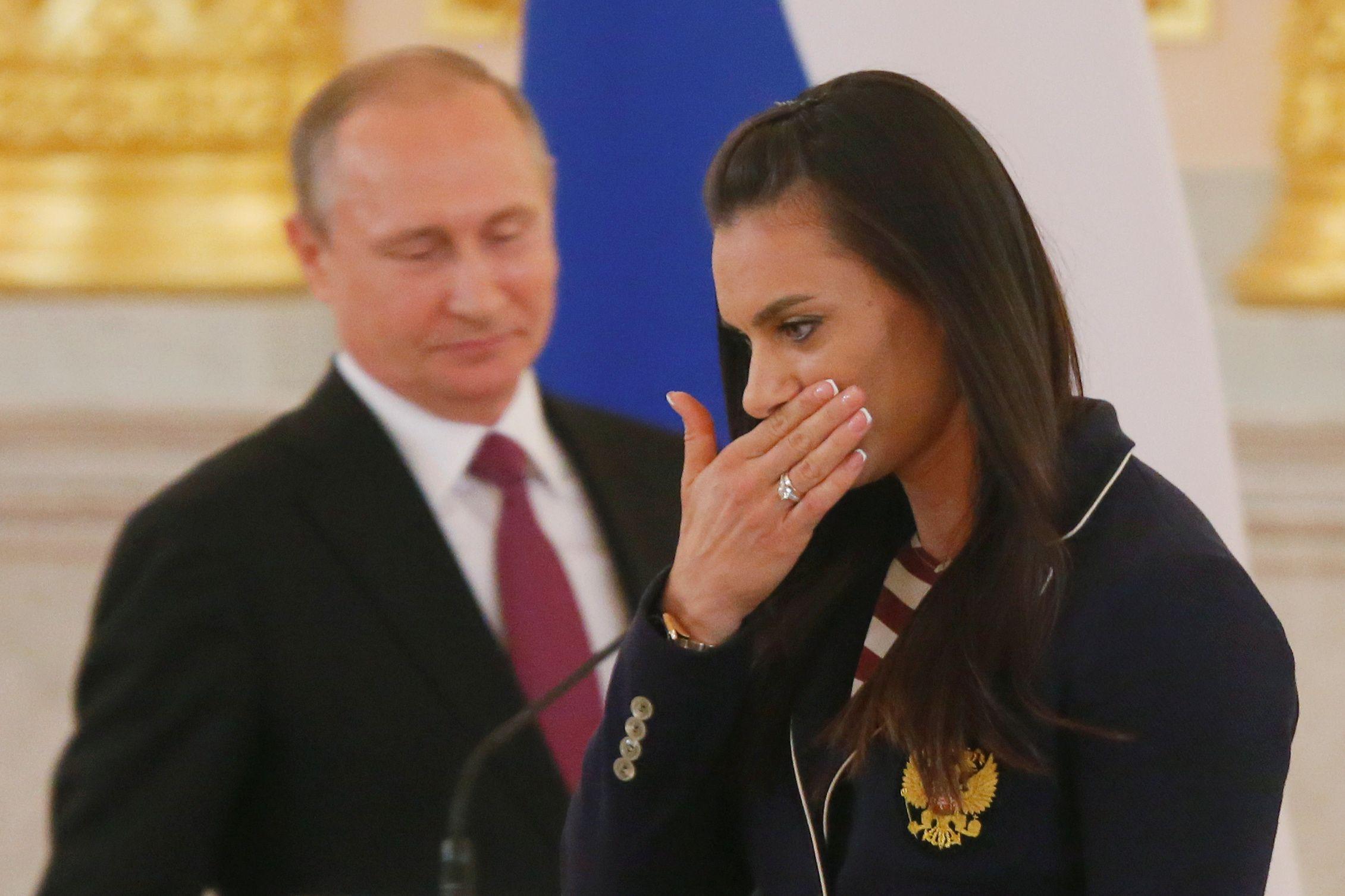 Vladimir Putin and Yelena Isinbayeva