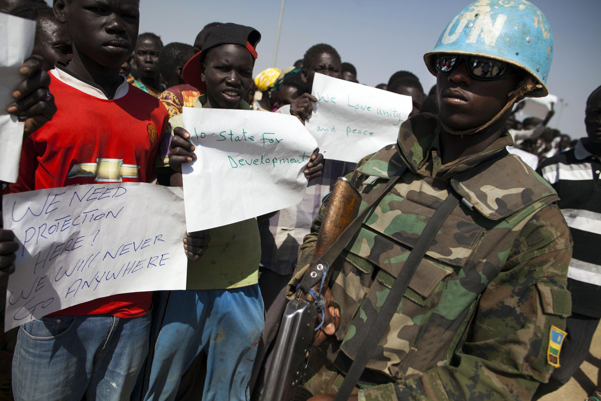South Sudan displaced people
