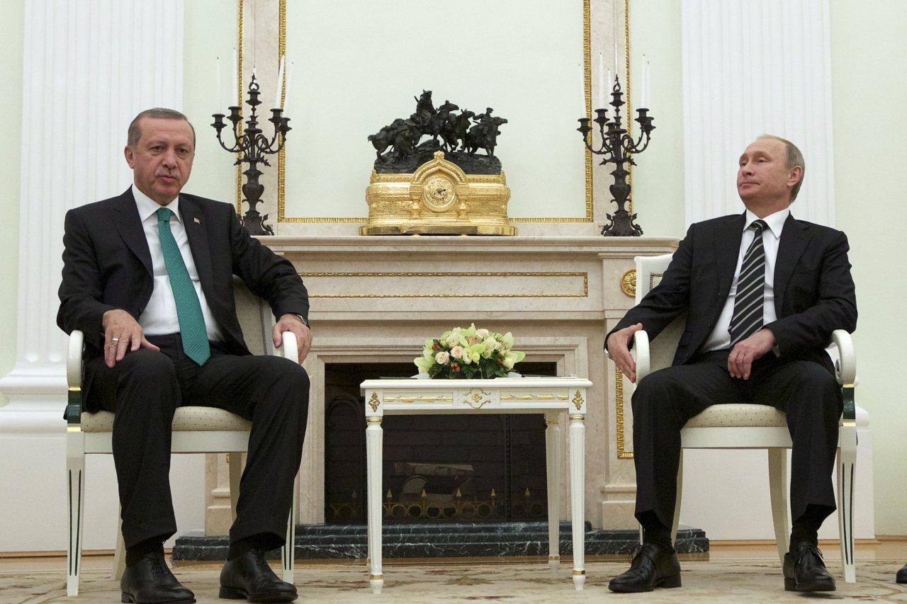 Vladimir Putin and Tayyip Erdogan