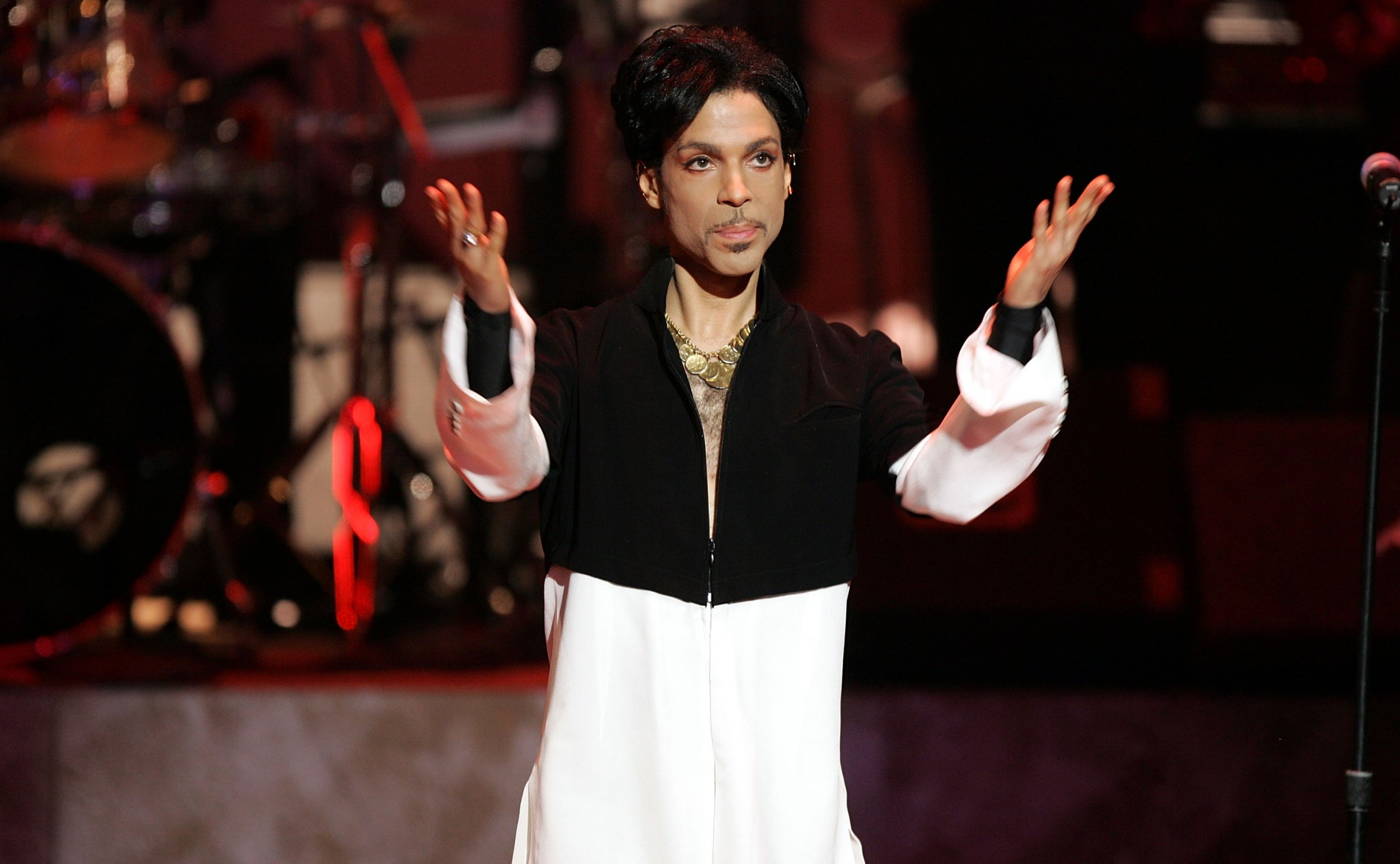 Prince on stage in 2005