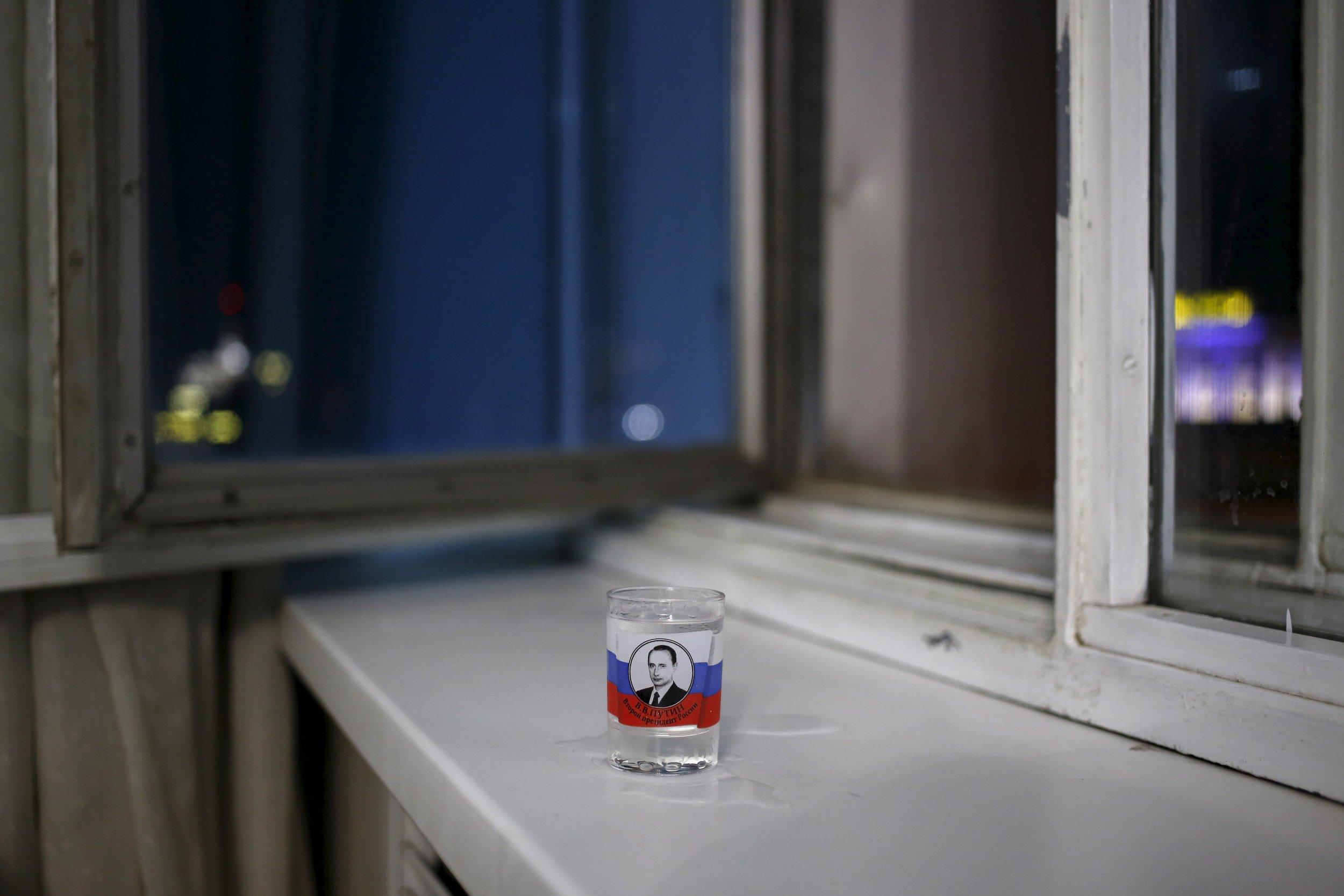 Putin Vodka glass