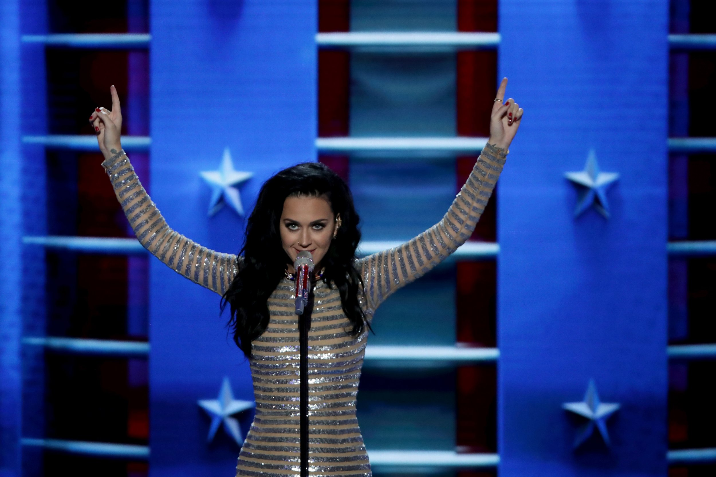 Katy Perry performs Rise