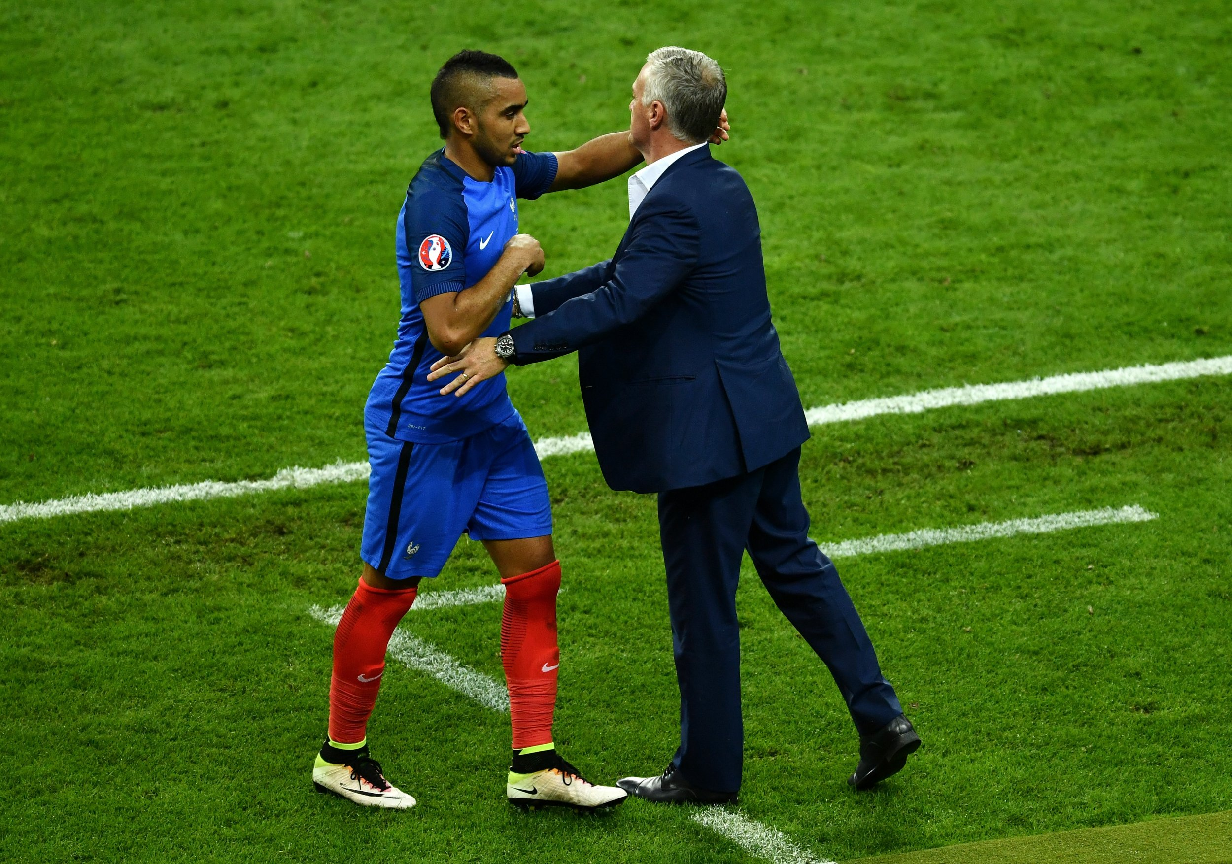 France and West Ham United star Dimitri Payet, left.