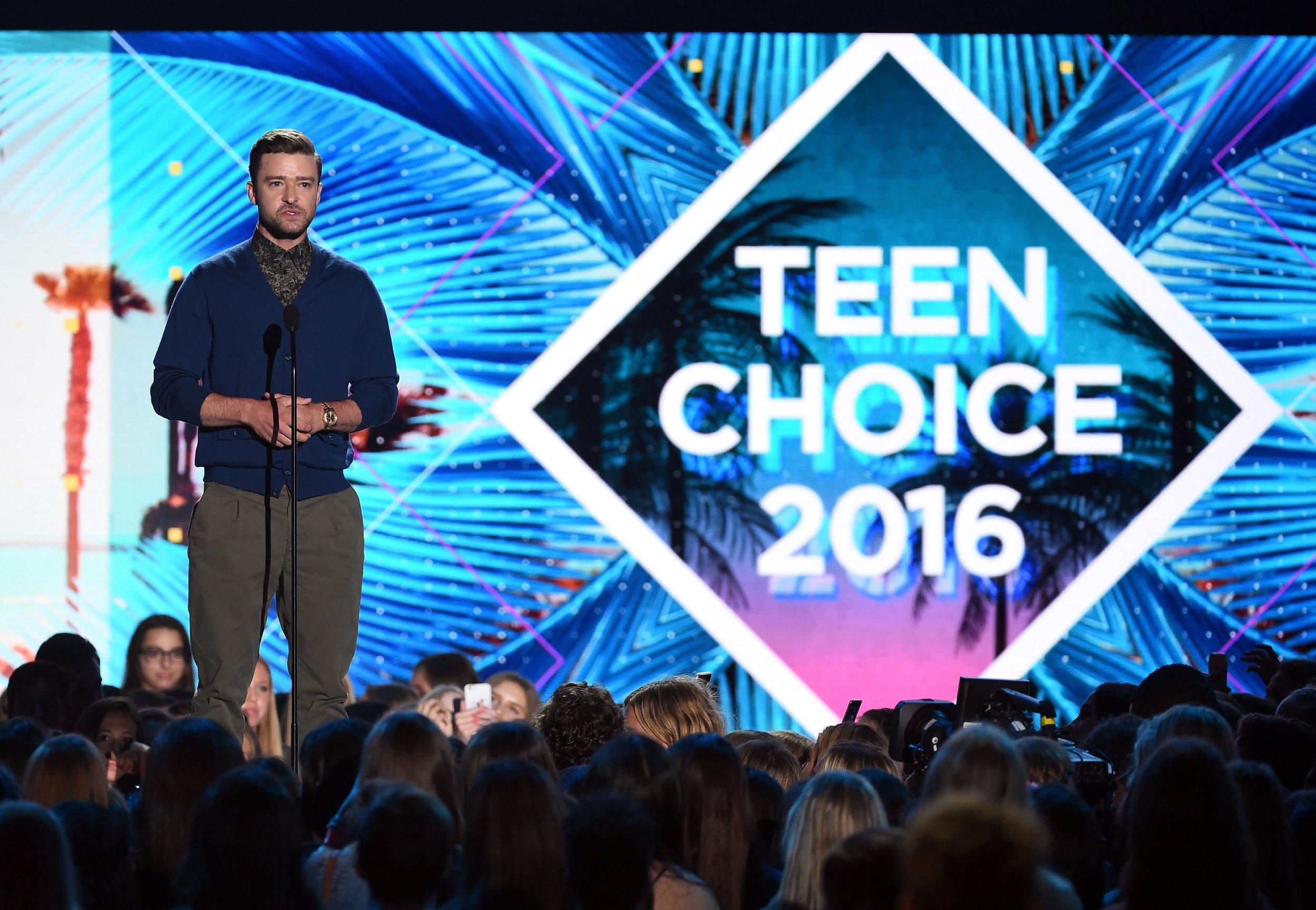 Justin Timberlake at Teen Choice Awards