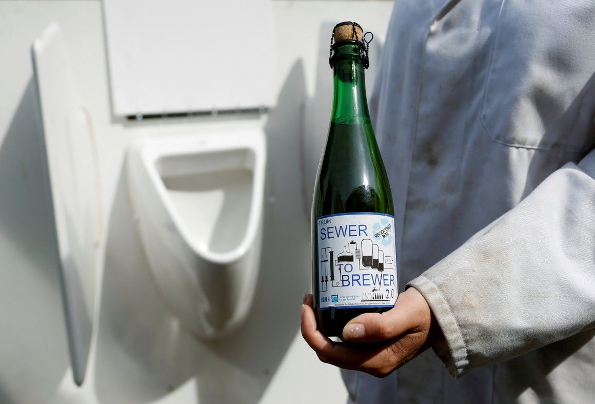beer urine sewer to brewer
