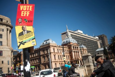 South Africa election posters