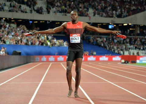 Usain Bolt at the London Anniversary Games