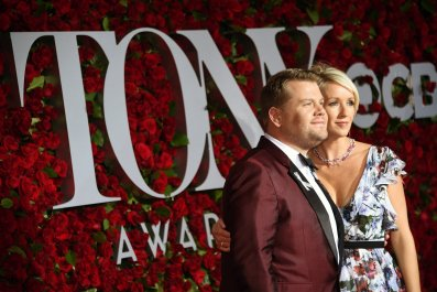 James Corden and wife