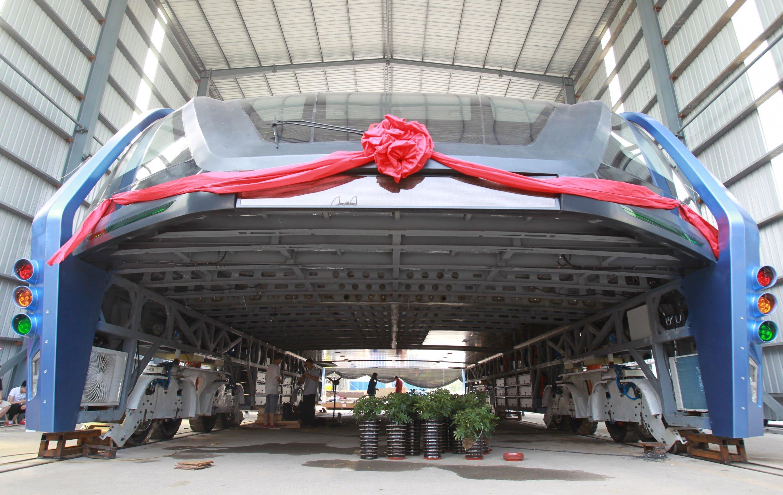 bus china transit elevated bus TEB