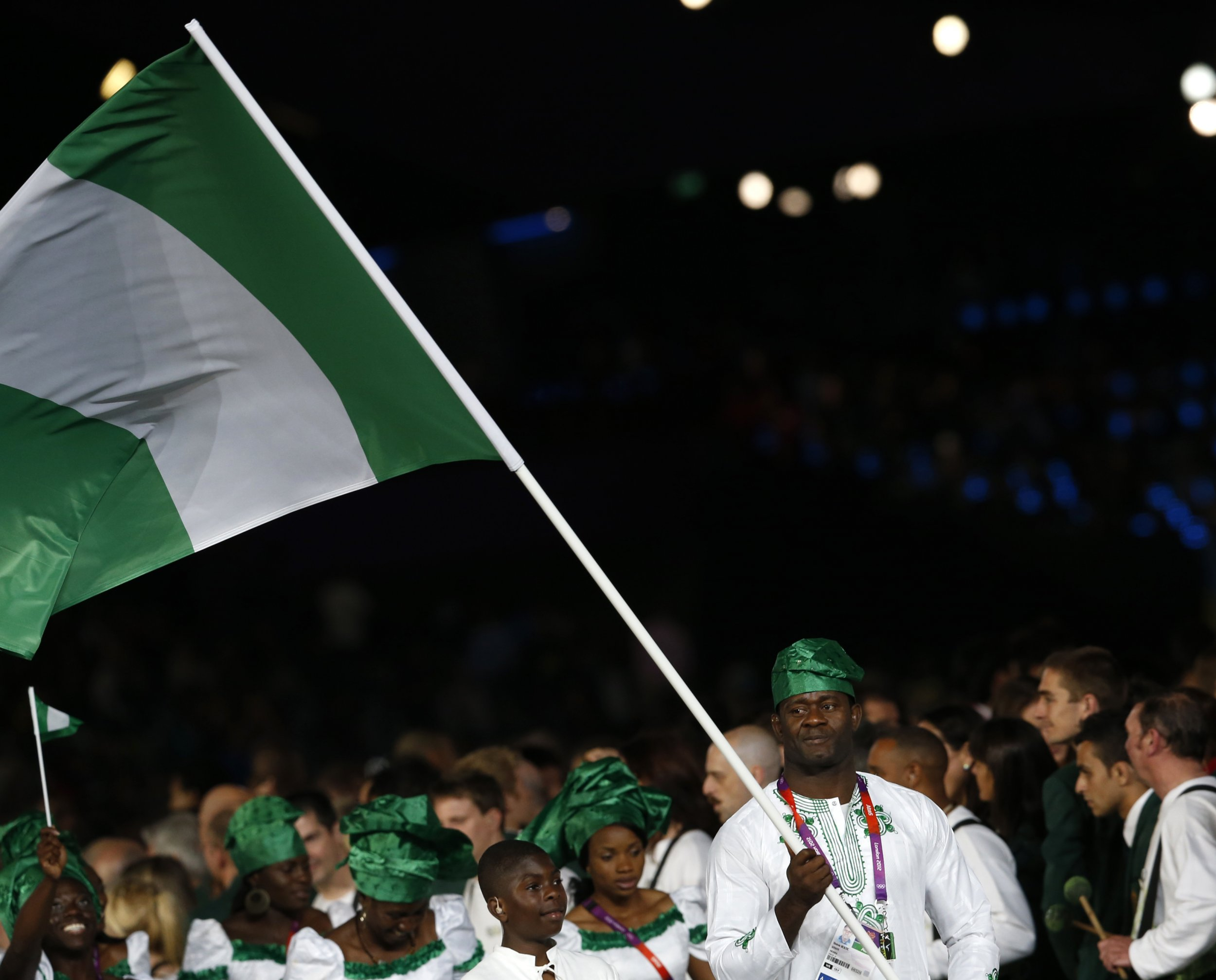 Nigeria London 2012 flagbearer