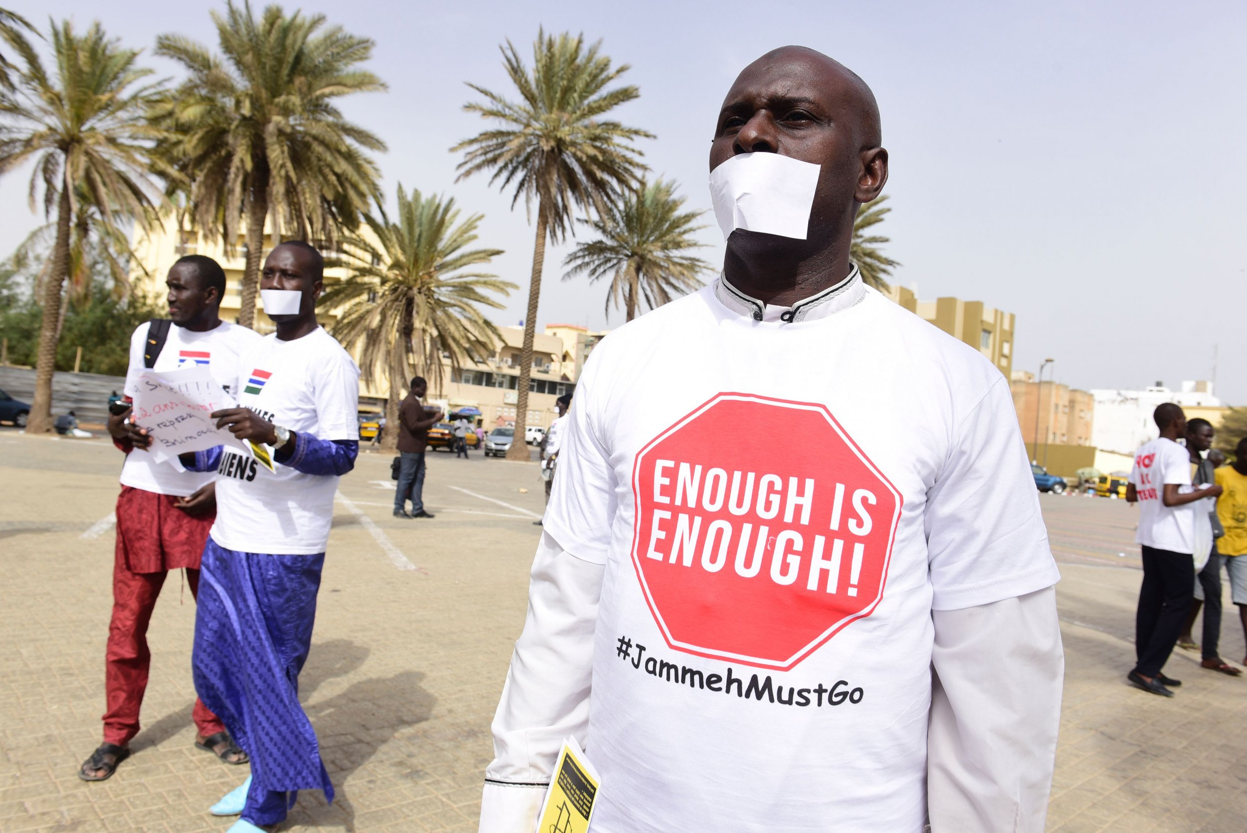 Protesters in Senegal