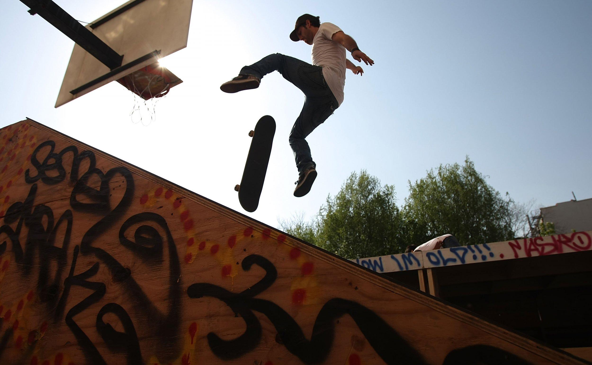Skateboarding Clayton Haske