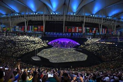 The Rio Olympics opening ceremony.