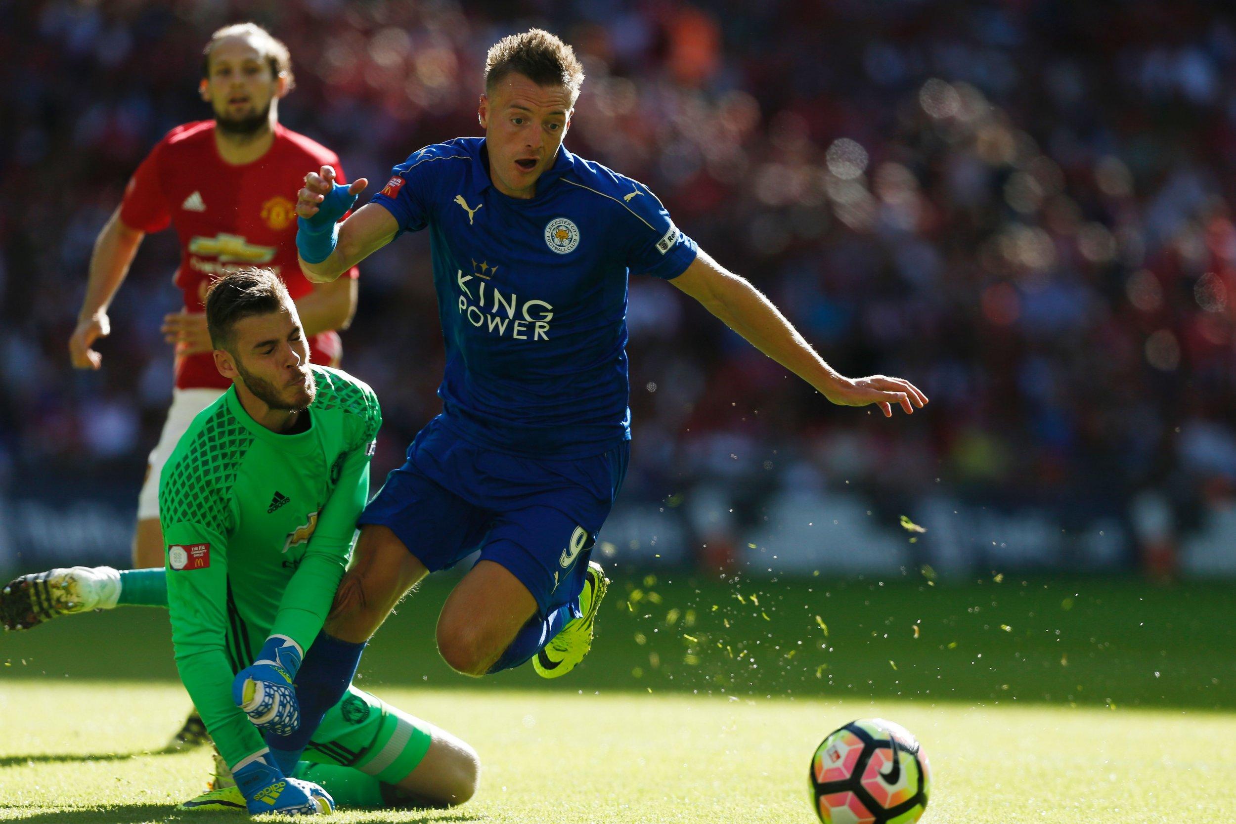 Leicester City striker Jamie Vardy.