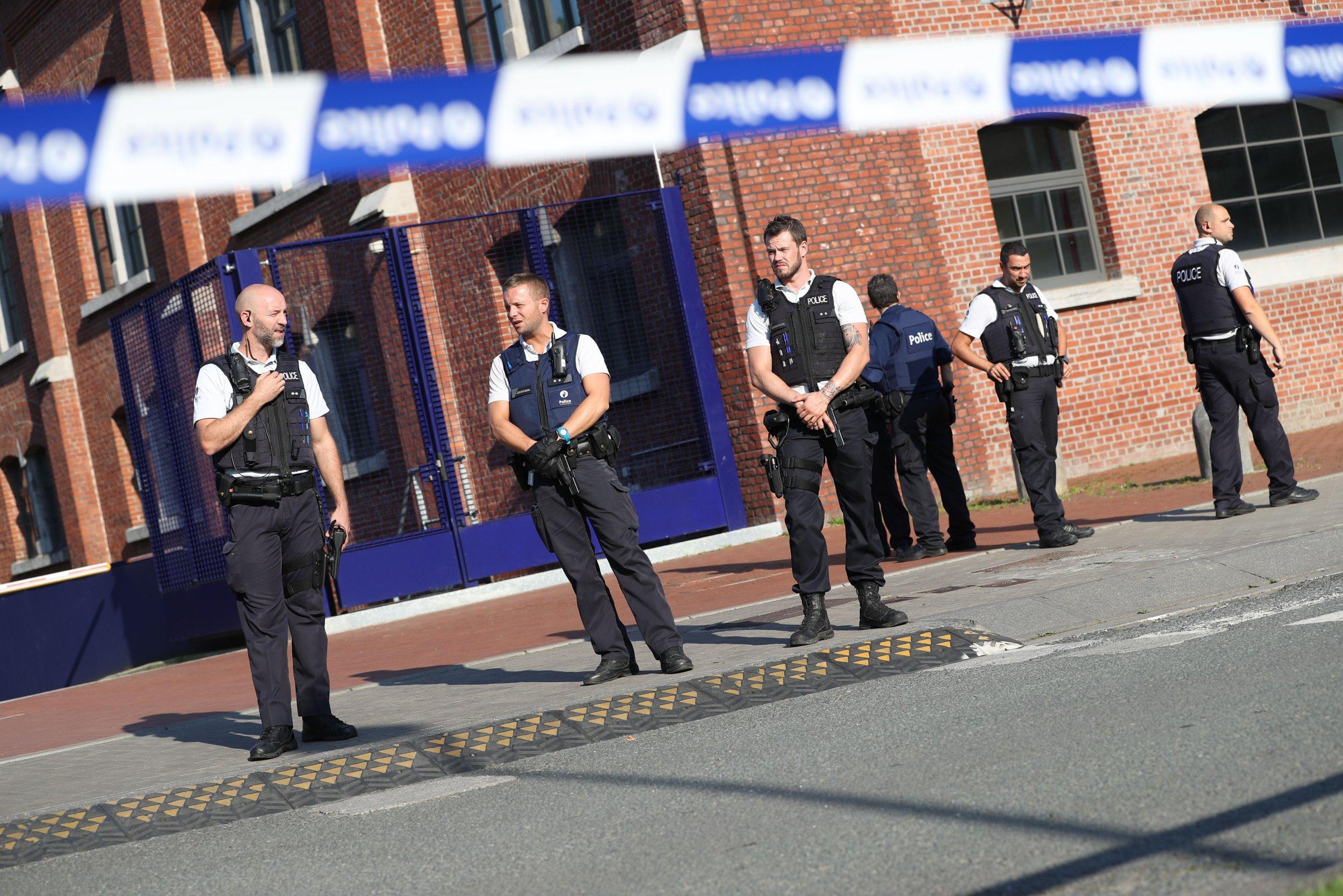 Belgian police in Charleroi