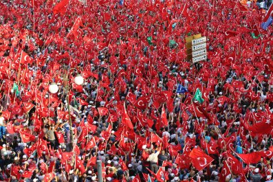 Turkish citizens rally in Istanbul against failed coup