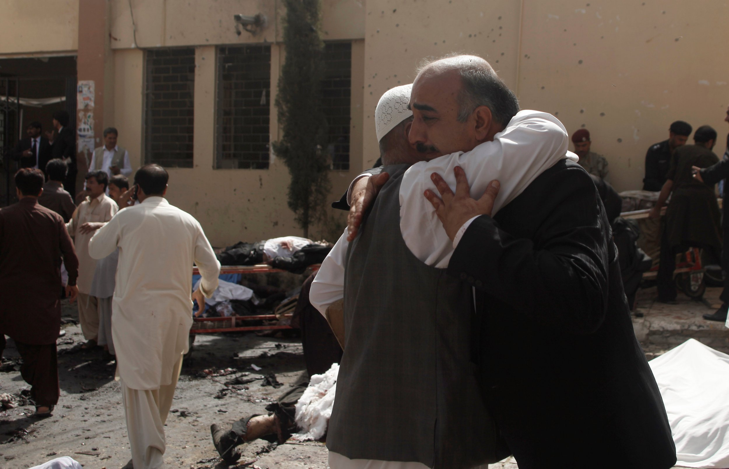 Friends and relatives of victims grieve in Quetta