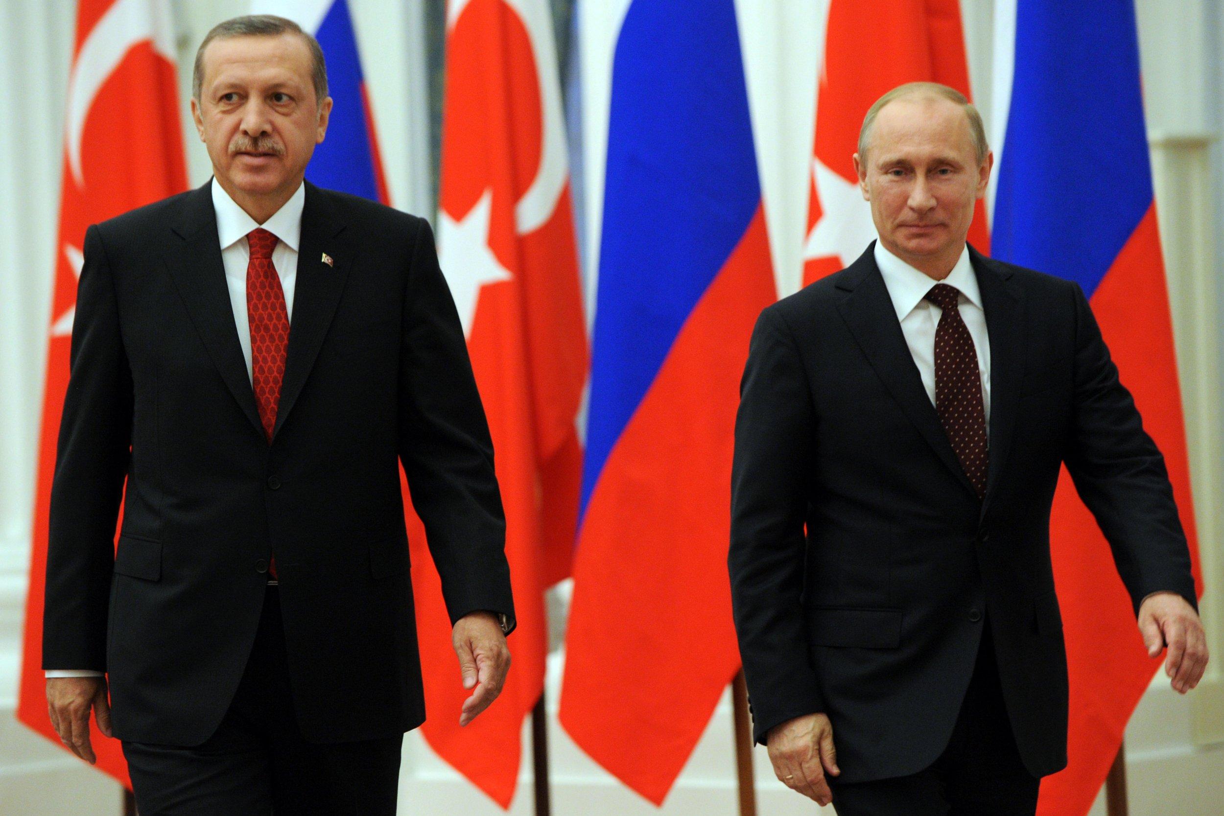 Turkish President Erdogan and Russian President Putin